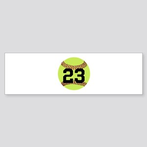 Softball Number Personalized Sticker (Bumper)