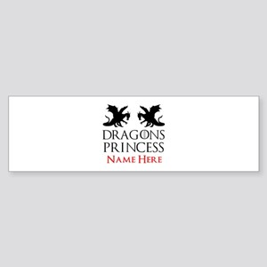 Dragons Princess Personalized Sticker (Bumper)