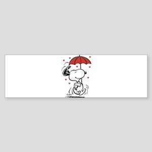 Peanuts: Snoopy Raining Hearts Sticker (Bumper)