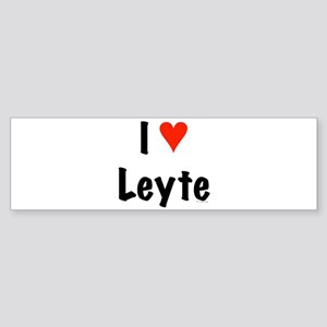 I love Leyte Bumper Sticker