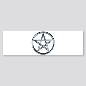 Silver Pentagram Sticker (Bumper)