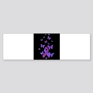 Purple Awareness Ribbon Sticker (Bumper)