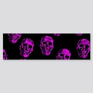 Purple SKULLS Bumper Sticker