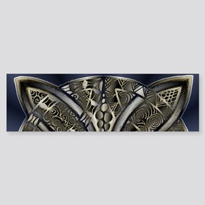 Blue Black Gold Silver Celtic Knot Bumper Sticker