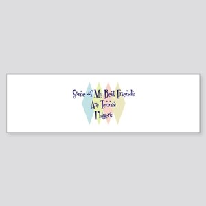 Tennis Players Friends Bumper Sticker