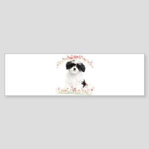 Havanese Flowers Sticker (Bumper)