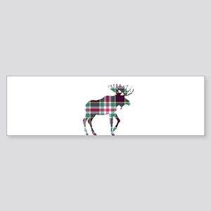Plaid Moose 124 by Leslie Harlow Bumper Sticker