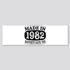 Made in 1982 - Maturity Date TDB Sticker (Bumper)