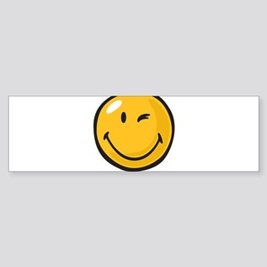 friendly wink Bumper Sticker