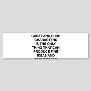 Fine Ideas And Noble Deeds Sticker (Bumper)