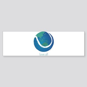 love all world tennis Sticker (Bumper)