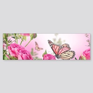 Butterfly Flowers Sticker (Bumper)