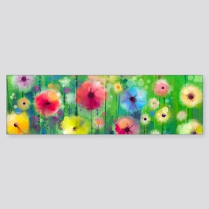 Watercolor Flowers Sticker (Bumper)