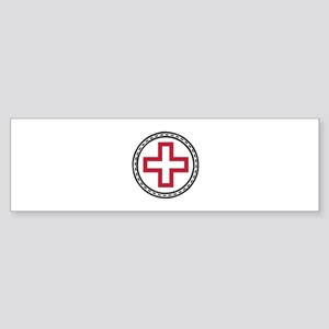 Circled Red Cross Bumper Sticker