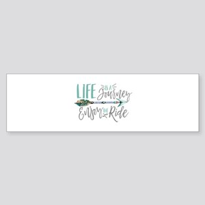 Bohemian Typography Life Is A journ Bumper Sticker
