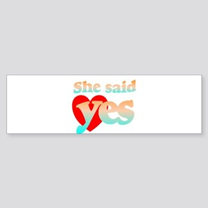 cute engagement 2 Bumper Sticker