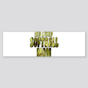Softball Mom: Loud and Proud Bumper Sticker