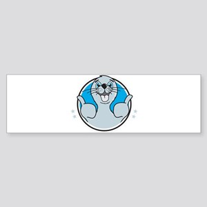 Seal of approval happy art Bumper Sticker