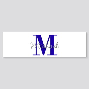 Personalize Initial and Name violet blue Bumper St