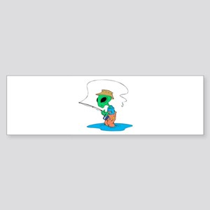 fishing alien copy Sticker (Bumper)