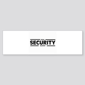 Social SECURITY Recipient Bumper Sticker