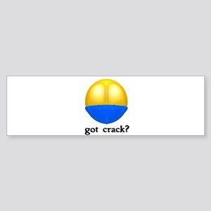 Got (Butt) Crack? Sticker (Bumper)