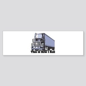 tractor trailer Sticker (Bumper)
