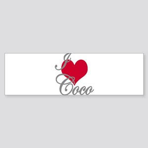 I love (heart) Coco Sticker (Bumper)