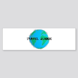 Travel Junkie Bumper Sticker