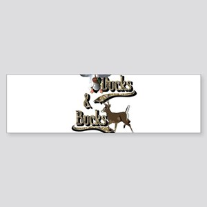 Ducks & Bucks Sticker (Bumper)