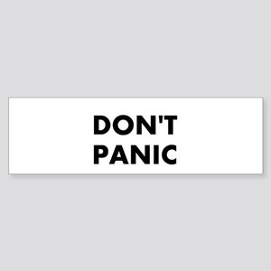 Don't Panic Sticker (Bumper)