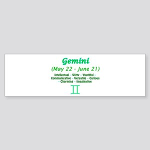 Gemini Description Sticker (Bumper)