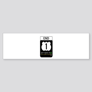 Highway 1 Key West Bumper Sticker