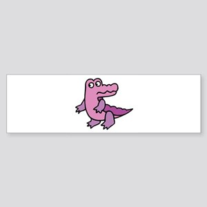 Purple Alligator Sticker (Bumper)