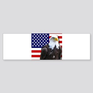 American flag eagle Bumper Sticker