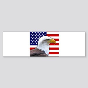 USA flag bald eagle Bumper Sticker