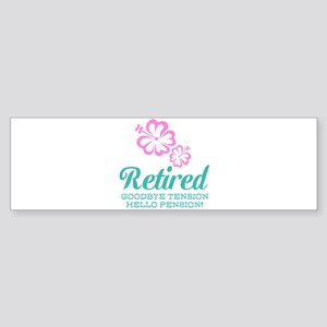 Funny retirement Bumper Sticker