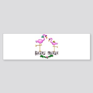 Dancing Pink Flamingos - Sticker (Bumper)
