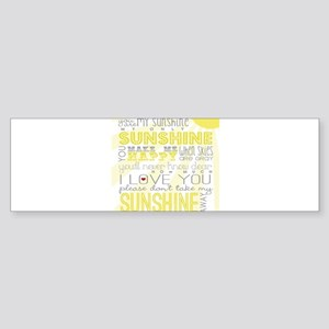 sunshine11 Bumper Sticker