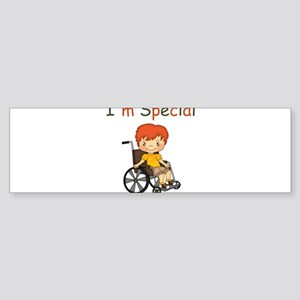 I'm Special - Wheelchair - Boy Bumper Sticker