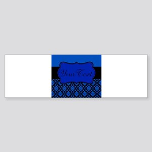 Blue Black Personalized Bumper Sticker
