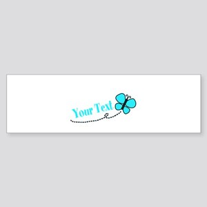 Personalizable Teal and Black Butterfly Bumper Sti
