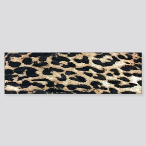 girly safari leopard print Bumper Sticker