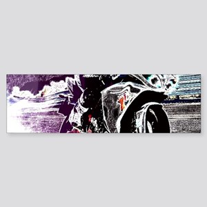grunge cool motorcycle racer Bumper Sticker
