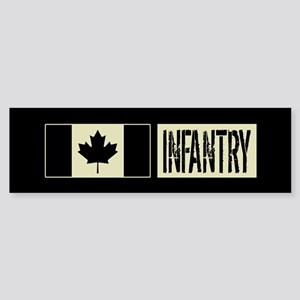 Canadian Military: Infantry (Blac Sticker (Bumper)