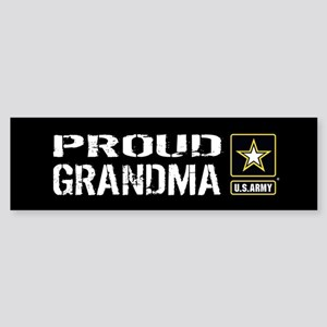 U.S. Army: Proud Grandma (Black) Sticker (Bumper)