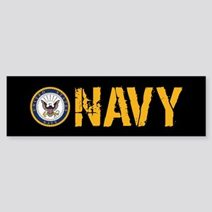 U.S. Navy: Navy (Black) Sticker (Bumper)