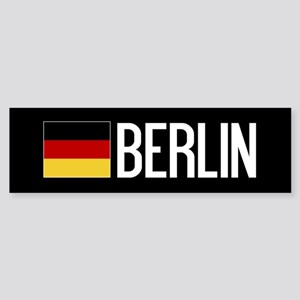 Germany: German Flag & Berlin Sticker (Bumper)