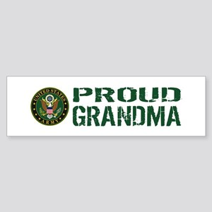 U.S. Army: Proud Grandma (Green & Sticker (Bumper)