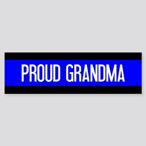 Police: Proud Grandma (The Thin B Sticker (Bumper)